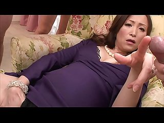 Asian milf wanks in her foursome with her toys
