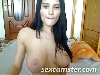 Slut spreads her meaty pussy lips