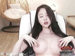Korean hot babe show her boob on webcam showcamgirl com
