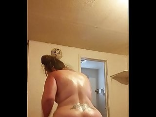 BBW Britany riding Black cock