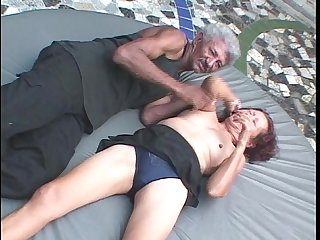 Grandpa is giving her some cock