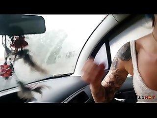 Boquete no carro em cima do Guincho em PUBLICO! - Dread Hot