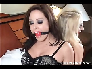 Keli and Christina bound togther and gagged