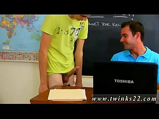 Free gay bareback twink sex first time gorgeous teacher cameron