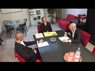 Sexy business girl ass fucked in office