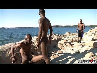 Black rod giving a head before hard anal fuck