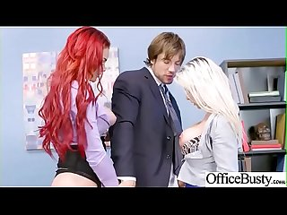 (Rachel RoXXX & Skyla Novea) Big Round Juggs Girl Like Hard Bang In Office clip-27