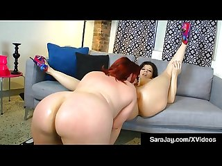 Sex Queen Sara Jay Pussy Tongue Fucks With BBW Marcy Diamond