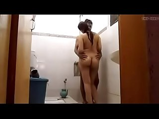 Big ass housewife amazing fucking while taking shower