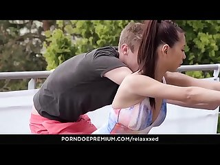 RELAXXXED � Paula Shy intense sex and cum on tits during yoga training