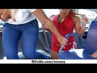 Nasty girl gets payed and tape for sex 10