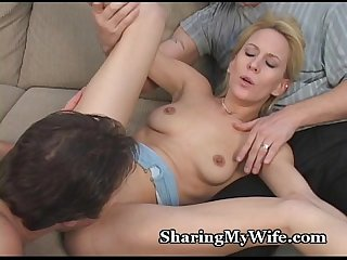 Tiny Wife's Pussy Stretched By Thick Cock