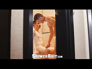 ShowerBait Tight booty fuck with Str8 Zak Bishop and Vincent James