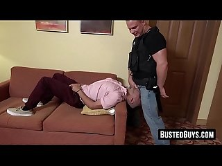 Handcuffed young Latino roughly fucked and deepthroated