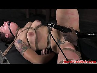 Bounded cherry doll gets two vibrators