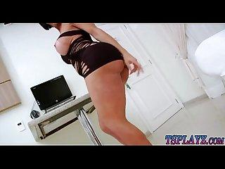 Bubble butt shemale Sabrina suzuki masturbates her cock