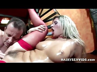 Hairy milf riding cock hardcore