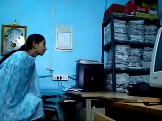 Uncle and aunty having sex in office
