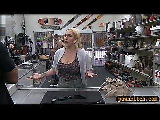Huge booty blond babe nailed by pawn guy