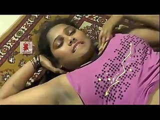 Telugu Desi girl enjoys foreplay showing naval and dark shaved armpits period mp4