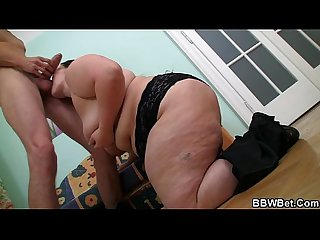 Slutty fatty loves threesome fucking