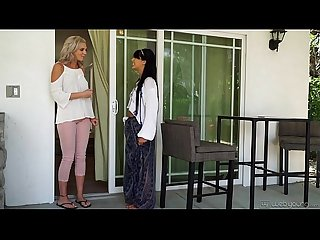 Young Hippie Lesbian -Tiffany Watson and Gina Valentina