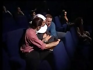 Orgy group sex in movie theater pt2 on hdmilfcam com