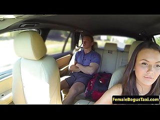 Busty taxi driver pussyfucked by passenger