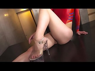 Soa daichi high leg leotard red lpar full rpar legs comma ass fetish image video solo