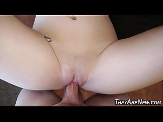 Teen first timer jizzed