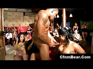 CFNM party girls get tits out for CFNM stripper