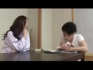 Japanese Asian Mom and Son drunken Hard Fuck