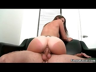 Sexy amateur girl riding big cock during