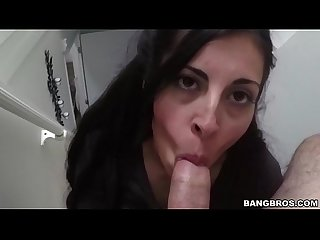 Latina milf sofia rivera gives an amazing bangbros blowjob