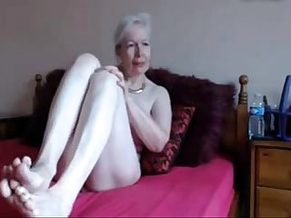 Amateur gorgeous horny granny masturbates