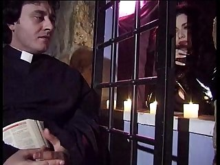 Jessica rizzo gives a blow job to the priest in a confessional