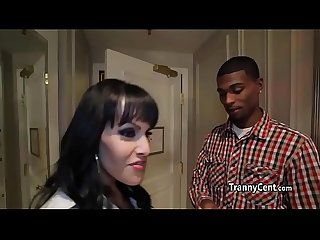Black guy fucks Milf shemale