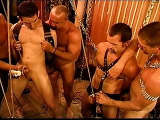 Five man sensual cbt bdsm orgy pt 1