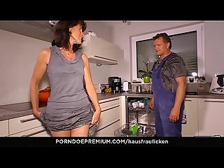 HAUSFRAU FICKEN - Cock sucking German cheating wife is a granny who likes reverse cowgirl sex