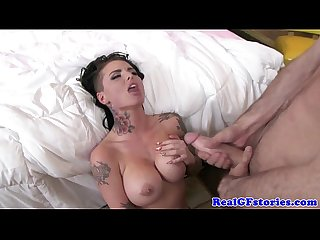 Exgf with tatts swallowing his cum