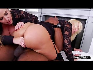 Lesbian models gape their deep anal holes and ream long toys