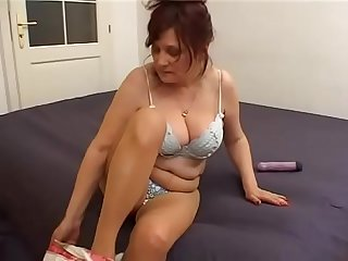 Giant boobs milf for a young boy