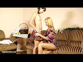 Flower Lovers by Sapphic Erotica - lesbian love porn with Minerva - Liona