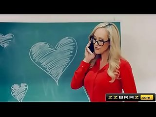 Mature teacher brandi love gets with a young student