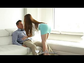 Puremature business woman veronica vain rides guys hard cock