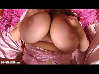 Britney swallows big swinging mom tits slapped around mature pussy play w cum drinking from a glass