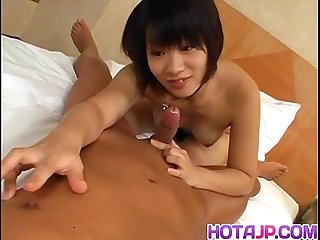 Japanese av model rides cock in superb pov show