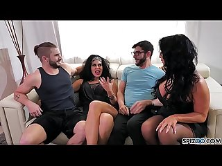 Spizoo raven hart savana styles gets fucked by 2 big dicks big booty