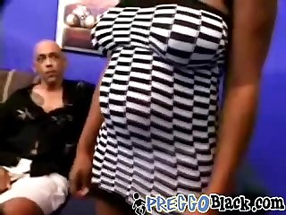 Preggo Black whore is fucked hard by two horny guysi 1