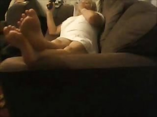 Hidden cam my mom home alone relaxing on couch